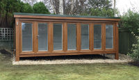 21' x 9' (6.37m x 2.73m) QC6 garden room and garden offce installed in Scotland