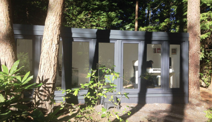 Forest with a 16' x 8' qcb garden office installed