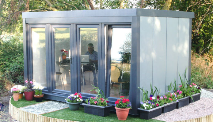 12' x 8' (3660mm x 2440mm) QCB garden office available for rental