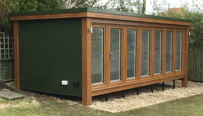 Garden Room installed in Scotland by Booths Garden Studios