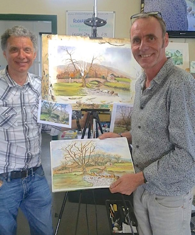 Geoff Kersey specialist in painting oils with Alex Booth