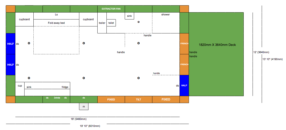 Floor plan of compact granny annexe