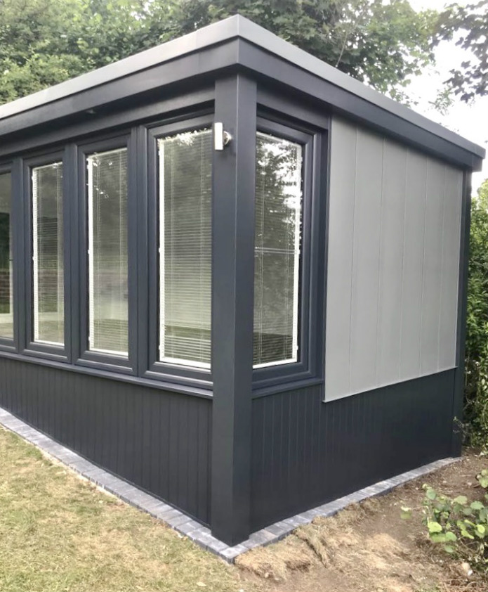 skirting on a garden office